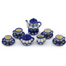 3-inch Stoneware Miniature Tea Set - Polmedia Polish Pottery H0467H