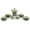 3-inch Stoneware Miniature Tea Set - Polmedia Polish Pottery H3975H