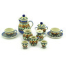 3-inch Stoneware Miniature Tea Set - Polmedia Polish Pottery H4353E
