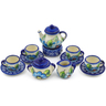 3-inch Stoneware Miniature Tea Set - Polmedia Polish Pottery H6692F