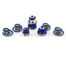 3-inch Stoneware Miniature Tea Set - Polmedia Polish Pottery H6985E