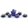 3-inch Stoneware Miniature Tea Set - Polmedia Polish Pottery H6987E