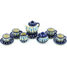 3-inch Stoneware Miniature Tea Set - Polmedia Polish Pottery H8382H