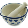 3-inch Stoneware Mortar and Pestle - Polmedia Polish Pottery H1756I