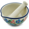 3-inch Stoneware Mortar and Pestle - Polmedia Polish Pottery H1778I