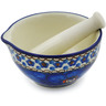 3-inch Stoneware Mortar and Pestle - Polmedia Polish Pottery H2840C