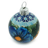 3-inch Stoneware Ornament Christmas Ball - Polmedia Polish Pottery H0304C