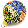 3-inch Stoneware Ornament Christmas Ball - Polmedia Polish Pottery H0913E