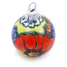 3-inch Stoneware Ornament Christmas Ball - Polmedia Polish Pottery H0916E