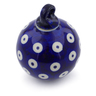 3-inch Stoneware Ornament Christmas Ball - Polmedia Polish Pottery H1331A