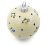 3-inch Stoneware Ornament Christmas Ball - Polmedia Polish Pottery H4410J