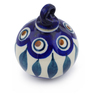 3-inch Stoneware Ornament Christmas Ball - Polmedia Polish Pottery H4606J
