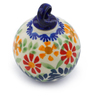 3-inch Stoneware Ornament Christmas Ball - Polmedia Polish Pottery H4607J