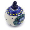 3-inch Stoneware Ornament Christmas Ball - Polmedia Polish Pottery H4609J
