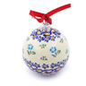 3-inch Stoneware Ornament Christmas Ball - Polmedia Polish Pottery H5945I