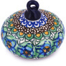 3-inch Stoneware Ornament Christmas Ball - Polmedia Polish Pottery H5955G