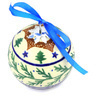 3-inch Stoneware Ornament Christmas Ball - Polmedia Polish Pottery H7668F