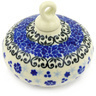 3-inch Stoneware Ornament Christmas Ball - Polmedia Polish Pottery H7745E