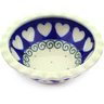 3-inch Stoneware Scalloped Bowl - Polmedia Polish Pottery H0146F