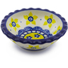 3-inch Stoneware Scalloped Bowl - Polmedia Polish Pottery H0484B