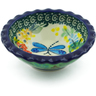 3-inch Stoneware Scalloped Bowl - Polmedia Polish Pottery H3564G