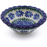 3-inch Stoneware Scalloped Bowl - Polmedia Polish Pottery H6972B