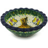 3-inch Stoneware Scalloped Bowl - Polmedia Polish Pottery H7414G