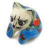 3-inch Stoneware Shelf Sitting Cat Figurine - Polmedia Polish Pottery H0882E