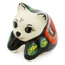 3-inch Stoneware Shelf Sitting Cat Figurine - Polmedia Polish Pottery H0885E