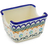 3-inch Stoneware Sugar Packet Holder - Polmedia Polish Pottery H0259K