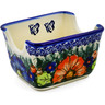 3-inch Stoneware Sugar Packet Holder - Polmedia Polish Pottery H2084G