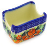 3-inch Stoneware Sugar Packet Holder - Polmedia Polish Pottery H2150G