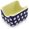 3-inch Stoneware Sugar Packet Holder - Polmedia Polish Pottery H3054G