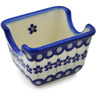 3-inch Stoneware Sugar Packet Holder - Polmedia Polish Pottery H5880K