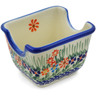 3-inch Stoneware Sugar Packet Holder - Polmedia Polish Pottery H7658G