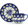 3 oz Stoneware Espresso Cup with Saucer - Polmedia Polish Pottery H0968H