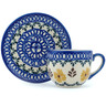 3 oz Stoneware Espresso Cup with Saucer - Polmedia Polish Pottery H9760H