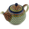 30 oz Stoneware Tea or Coffee Pot - Polmedia Polish Pottery H1511H