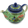 30 oz Stoneware Tea or Coffee Pot - Polmedia Polish Pottery H2196H