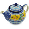30 oz Stoneware Tea or Coffee Pot - Polmedia Polish Pottery H2225H