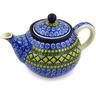 30 oz Stoneware Tea or Coffee Pot - Polmedia Polish Pottery H2473F