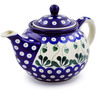 30 oz Stoneware Tea or Coffee Pot - Polmedia Polish Pottery H3057B
