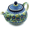 30 oz Stoneware Tea or Coffee Pot - Polmedia Polish Pottery H4128H
