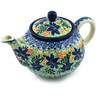 30 oz Stoneware Tea or Coffee Pot - Polmedia Polish Pottery H4129H