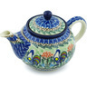 30 oz Stoneware Tea or Coffee Pot - Polmedia Polish Pottery H4480H