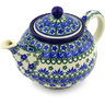 30 oz Stoneware Tea or Coffee Pot - Polmedia Polish Pottery H5566E