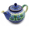 30 oz Stoneware Tea or Coffee Pot - Polmedia Polish Pottery H5567E