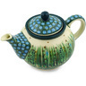 30 oz Stoneware Tea or Coffee Pot - Polmedia Polish Pottery H6606E