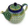 30 oz Stoneware Tea or Coffee Pot - Polmedia Polish Pottery H6614D