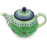 30 oz Stoneware Tea or Coffee Pot - Polmedia Polish Pottery H8391G
